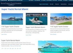 Super Yacht Rental Miami